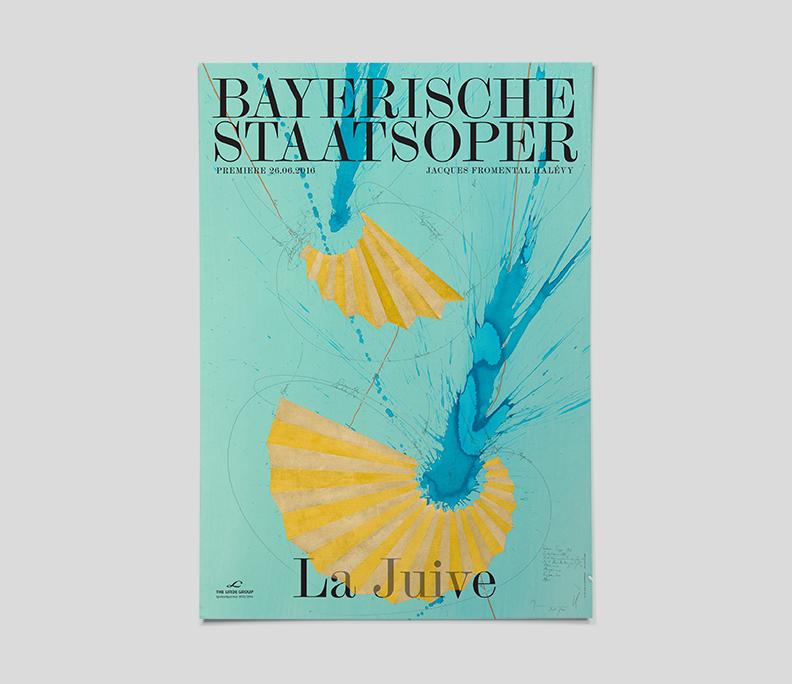 VALERIJA IĻČUKA Bayerische Staatsoper 2015/16 Premier Posters